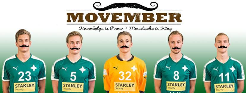GrIFK mukaan Movemberiin — GrIFK Käsipallo - miehet